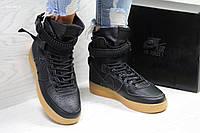 Высокие подростковые кроссовки Nike Air Force 1 найк аир форс  підліткові  кросівки (Топ реплика 265f6871d8020