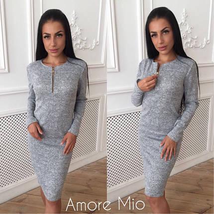 Модное ангоровое зимнее платье, фото 2
