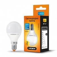 LED лампа VIDEX G45е 3,5W E14 300Lm 4100K