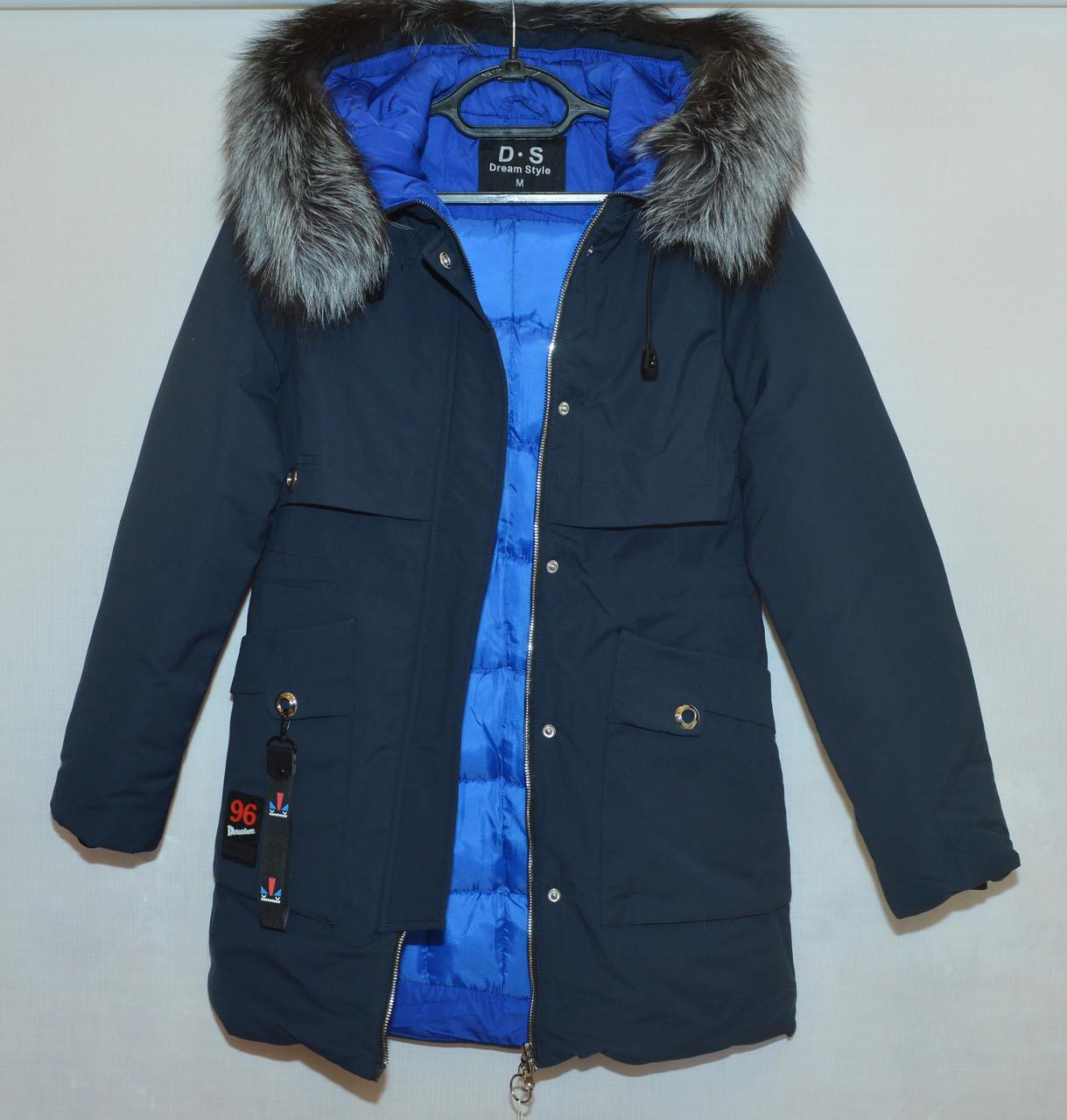 Куртка женская c мехом зима D.S 9021 (М)