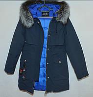 Куртка женская c мехом зима D.S 9021 (S-2XL)