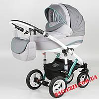 Детская коляска-трансформер Adamex Galactic Rainbow Mint