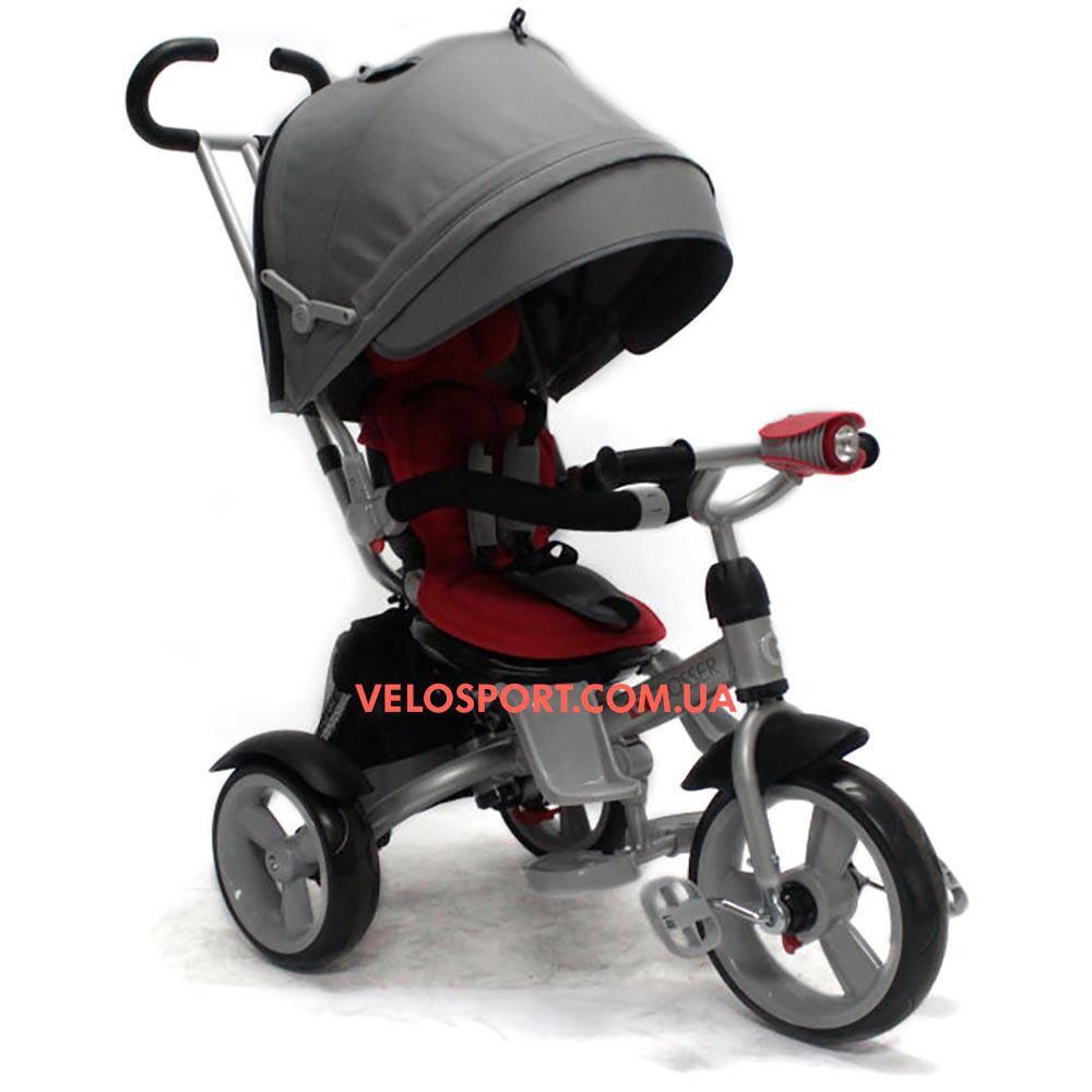 Детский трехколесный велосипед Crosser T 503 EVA серо-красный
