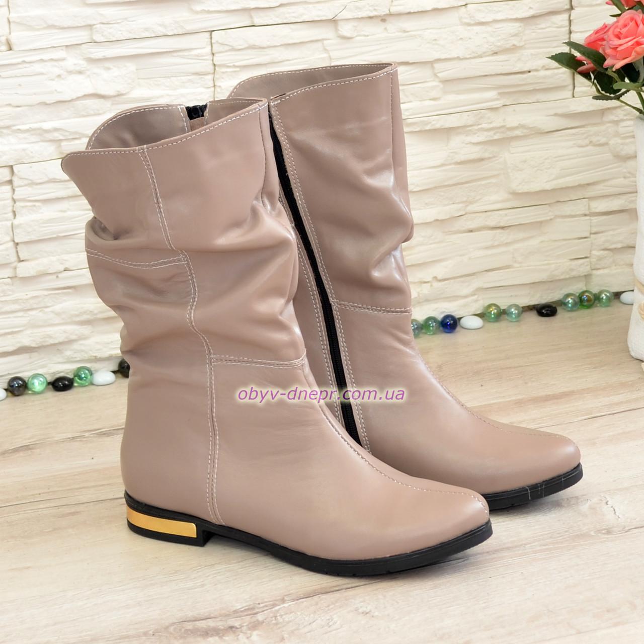 """Женские демисезонные ботинки на байке, из натуральной кожи от производителя  ТМ """"Maestro"""""""