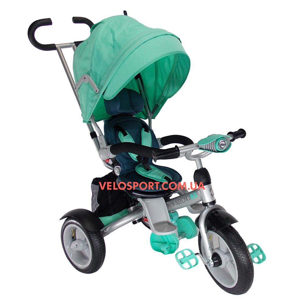 Детский трехколесный велосипед Crosser T 503 EVA бирюзовый
