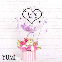 Стильный Flowerbox с шаром для любимого человека