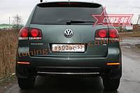 Защита заднего бампера d 42 Союз 96 на Volkswagen Touareg 2006-2009