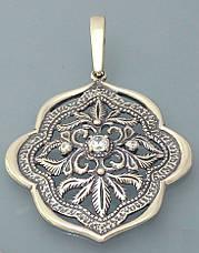 Кольцо из серебра с цирконием., фото 2