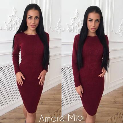 Ангоровое зимнее теплое платье, фото 2
