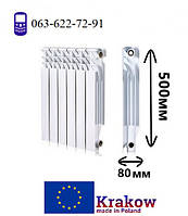 Радиатор биметаллический для отопления 500х80 (KRAKOW)
