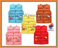 Оптом утепленные жилеты детские с лого (пошив под заказ от 50 шт.)