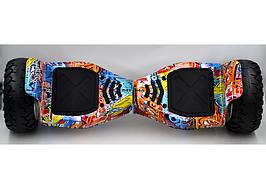 """Гироборд Smart Balance HUMMER 8,5"""" гироскутер городской расцветка граффити"""