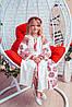 """Платье для девочки с вышивкой в бохо-стиле """"Розкіш-2"""" белого цвета"""