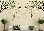 Самоклеющаяся наклейка на стену - Дерево с птичками (270х115см), фото 2