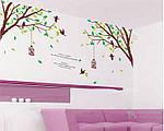 Самоклеющаяся наклейка на стену - Дерево с птичками (270х115см), фото 6
