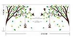 Самоклеющаяся наклейка на стену - Дерево с птичками (270х115см), фото 7