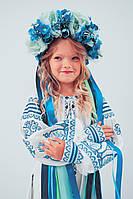 """Вышитое платье для девочки в стиле бохо """"Розкіш-2"""" белого цвета, фото 1"""