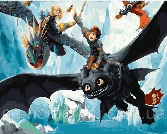 Раскраска для взрослых Как приручить дракона (BRM22550) 40 ...