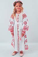 """Платье для девочки с вышивкой в стиле бохо """"Розкіш-2"""" белого цвета, фото 1"""