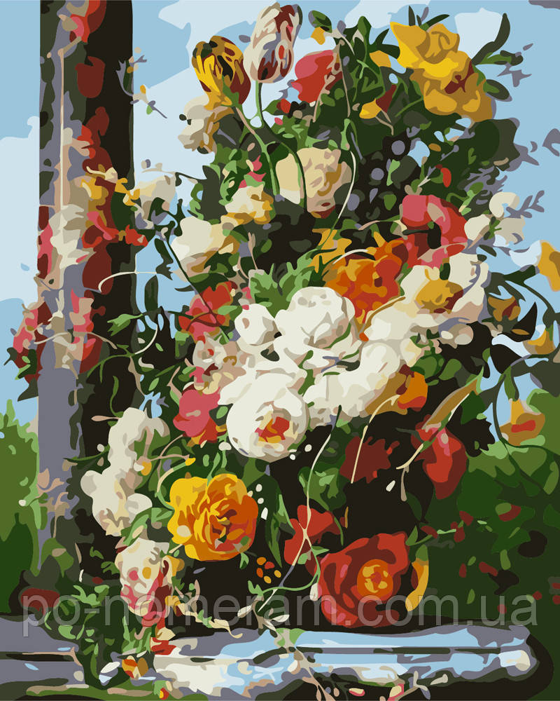 Раскраска для взрослых Пышный букет (BRM7303) 40 х 50 см ...