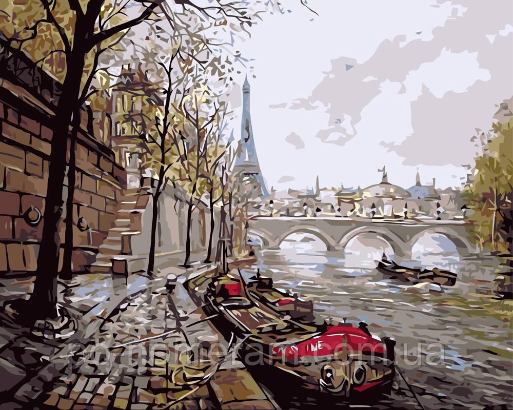Раскраска по цифрам Осень в Париже (BRM7533) 40 х 50 см ...