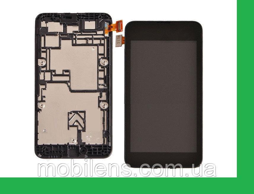 Nokia 530 Lumia, RM-1019 Дисплей+тачскрин(сенсор) в рамке черный