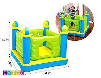 Детский надувной батут-игровой центр Intex «Замок», 132 х 132 х 107 см