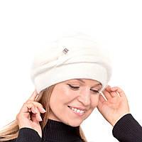 Белая женская шапка Yuan Meng украшена натуральной норкой , фото 1