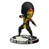 Фигурка Mezco Toyz Скорпион Мортал Комбат Scorpion Bobble Head Mortal Kombat X BL14