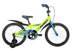 Велосипед AVANTI 2018 LION-16 (coaster) зелено синий (green/blue)