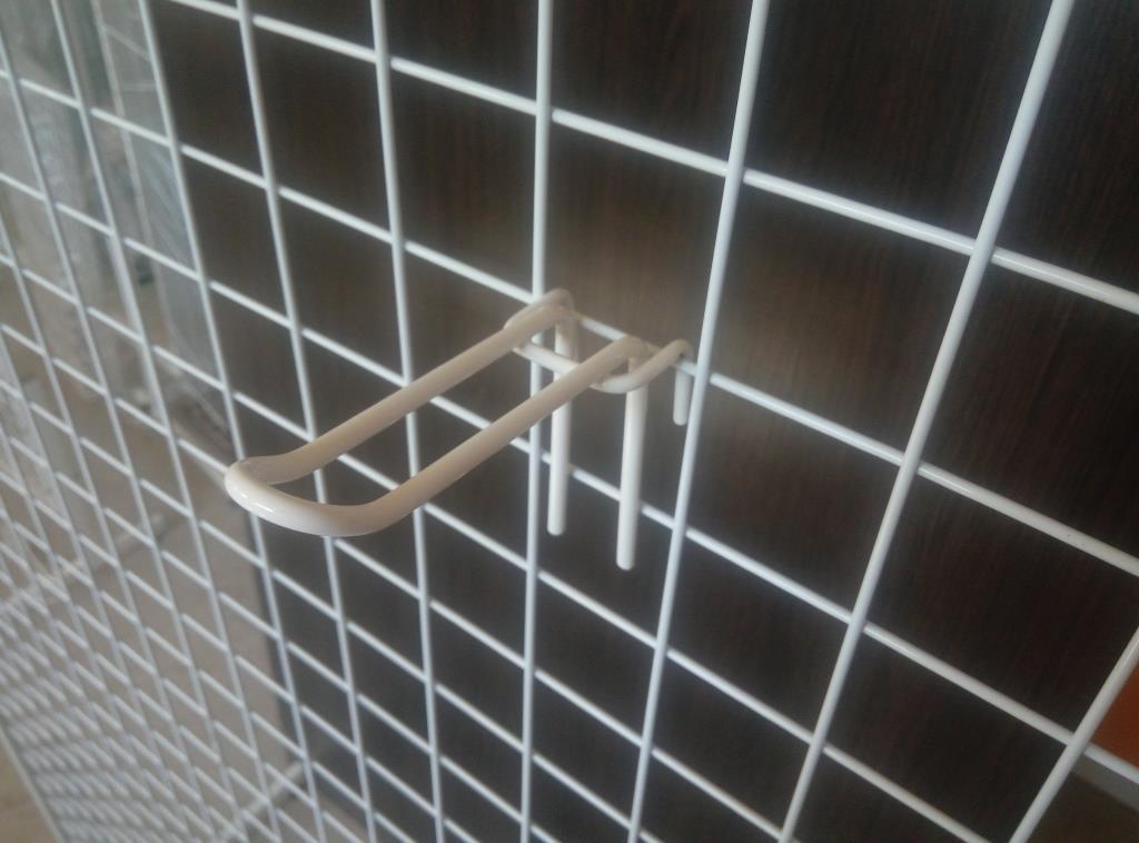 Торговий гачок (крючок) на сітку подвійний 100 мм, фото 1