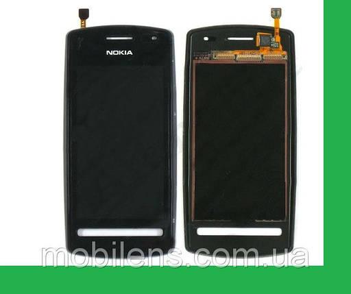 Nokia 600 Тачскрин (сенсор) в рамке черный , фото 2
