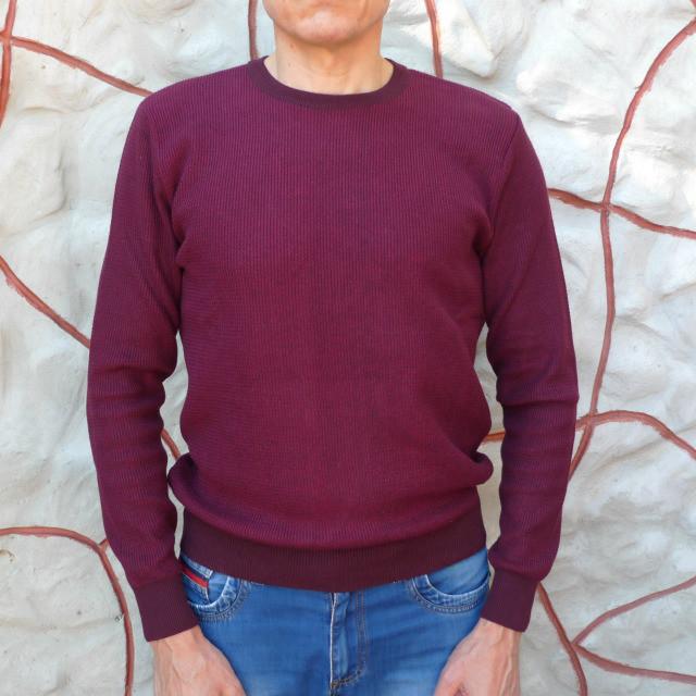 Мужской  бордовый джемпер Tony Montana