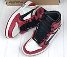 Мужские кроссовки Air Jordan 1 Off-white The 10 (Найк Аир Джордан Офф Вайт) в стиле красные, фото 8