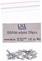 Наконечник штыревой втулочный изолированный 0.5 мм2. LXL Белый. (20 шт.) у