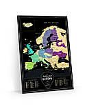 "Скретч карта Европы ""Travel Map Black Europe"" (тубус), англ., фото 3"