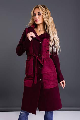 Пальто в сочетании с капюшоном , фото 2