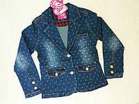 Джинсовая куртка для девочек, Венгрия, S&D, арт. KK-508, 158-164