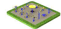 Спортивная площадка с уличными тренажерами 1274, фото 1