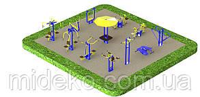 Спортивная площадка с уличными тренажерами 1274