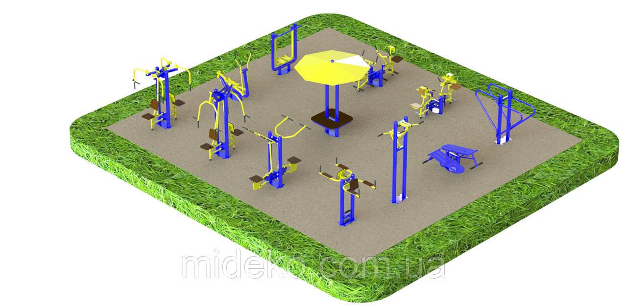 Картинки по запросу Спортивный уличный комплекс тренажеров от компании «МИДЕКО ГРУПП»