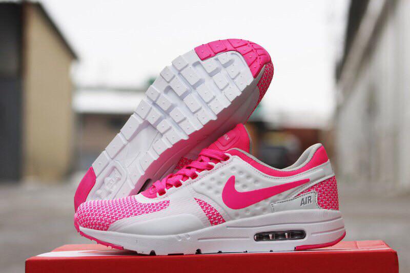 Кроссовки женские Nike Air Max Zero цвет белый с розовым (реплика)