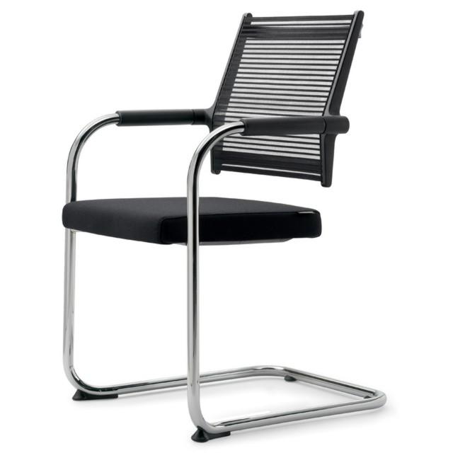 Кресло на полозьях для конференций Enrandnepr Lordo DAUPHIN Черный