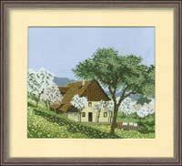 Набор для вышивки крестом RTO R146 «Сельский пейзаж»