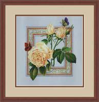 Набор для вышивки крестом RTO R170 «Бабочки и цветы»