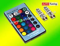 MAGIC LIGTING - Светодиодные автомобильные лампы подсветки с пультом RGB, 2 шт, 12V, T10, ULM-29