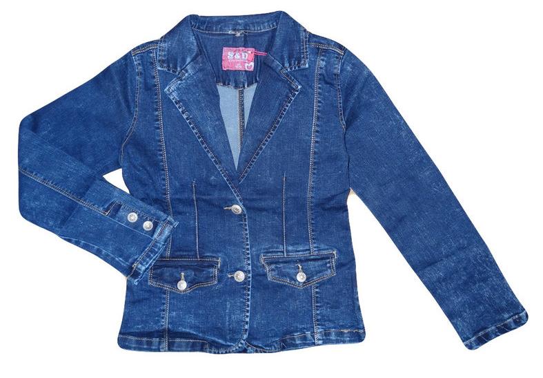Джинсовая куртка для девочек, Венгрия, S&D, 158-164, арт. KK-511 ,