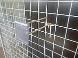 Торговый крючок  200мм на сетку с ценникодержателем -10шт, фото 6