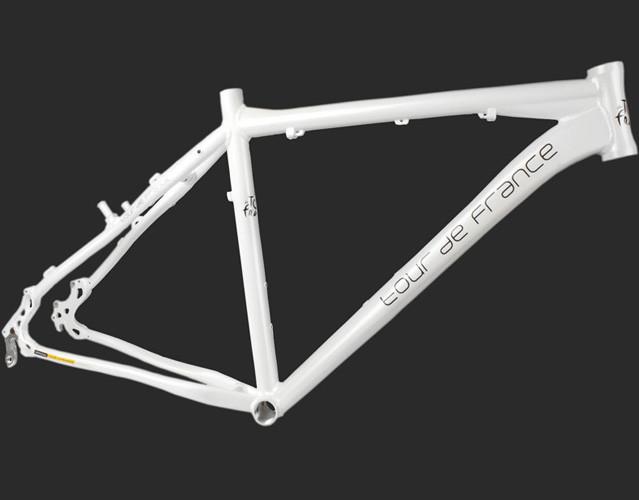 "Велосипедная рама 26"" алюминиеваяTour De France размер 15"" White"