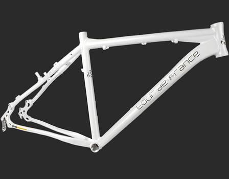 "Велосипедная рама 26"" алюминиеваяTour De France размер 15"" White, фото 2"